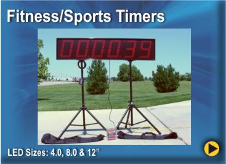 BRG Fitness, Sports & Short Duration timers are perfect for fitness events, sports events, charity events