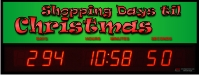 Countdown of shopping days until christmas