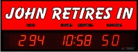 Personalized Countdown clock to retirement