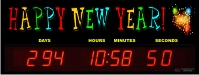Countdown to the new year clock
