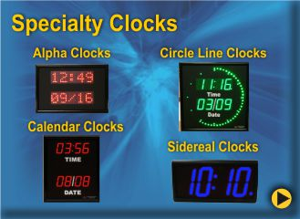 BRG Basic Digital Clocks, Advanced Digital Clocks, Alphanumeric Digital Clocks, Sidereal Clocks