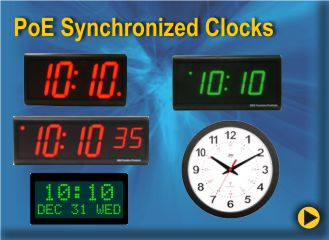 BRG PoE (Power-over-Ethernet Clocks are easy to setup and use