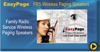 BRG's EasyPage Wireless FRS Speakers