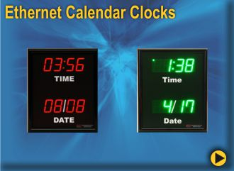 BRG Basic Ethernet Calendar Clocks