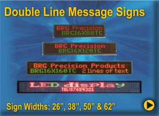 BRG Double Line Moving Message Sign, message Board, Message Display