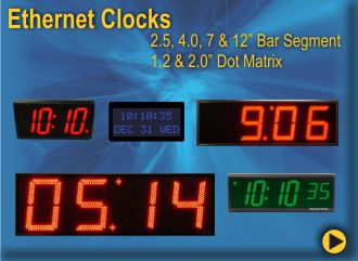 Ethernet ntp digital wall clock