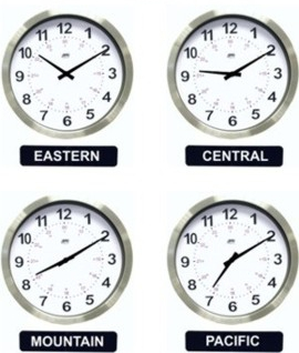 "12"" Brushed Aluminum Analog  Time Zone Clocks"