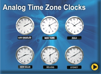 BRG Analog Time Zone Clock, Zulu Clock, World Clock, Military Clock, World Time Zone Clock, Military Time Zone Clock